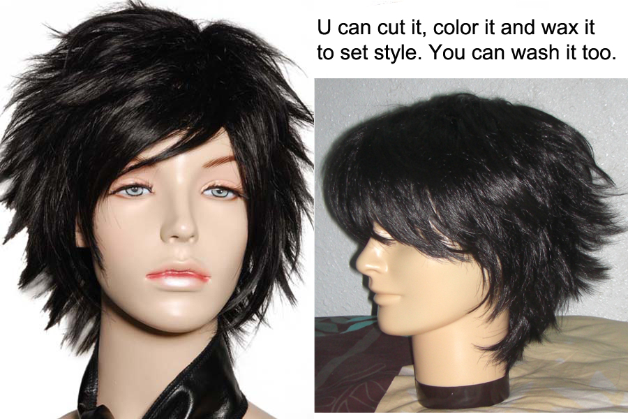 Don't need to use wax also can make this wig hair to stand up.